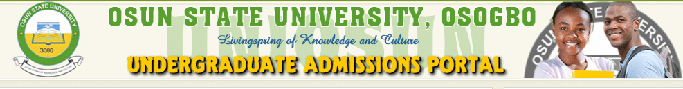 UNIOSUN Notice to Admission Seekers