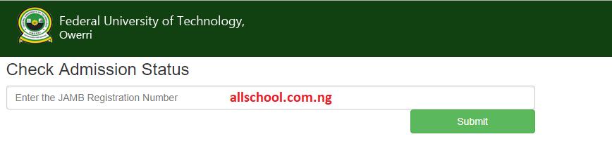 futo supplementary admission list