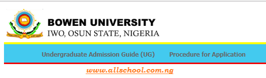 Bowen University Post UTME Form