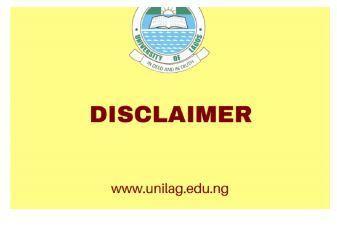 unilag disclaimer logo
