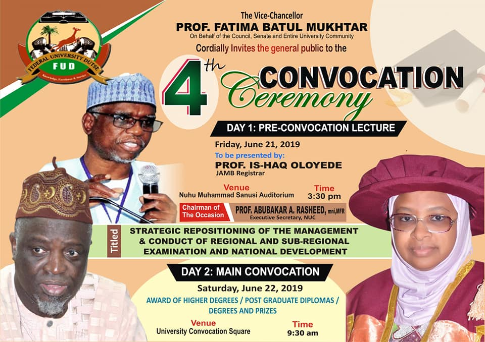 fud convocation ceremony schedule of events
