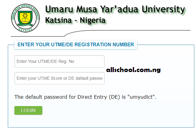 UMYU Notice to Direct Entry Aspirants