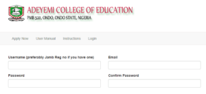 aceondo part-time degree admission form