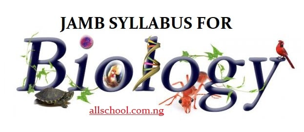 jamb syllabus for biology