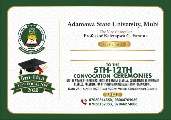 adsu notice to graduands on convocation