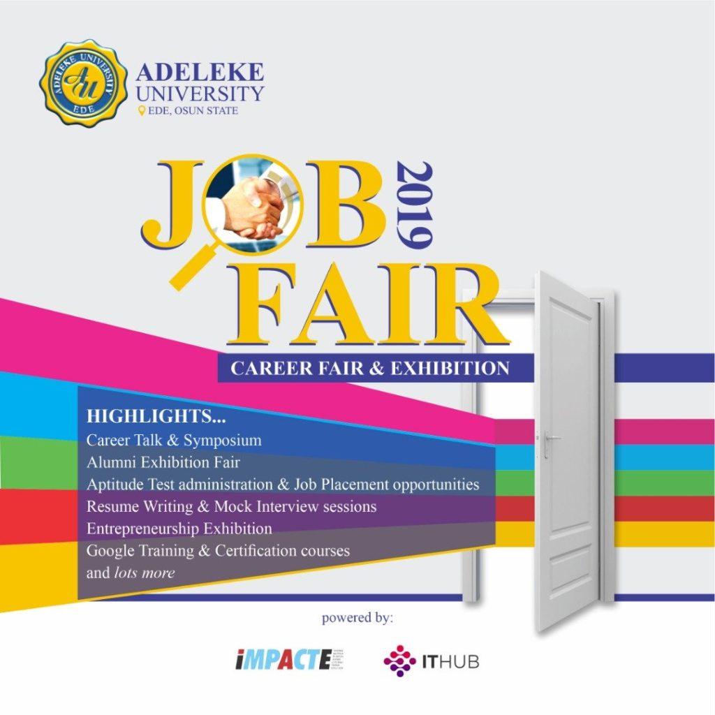Adeleke University job fair