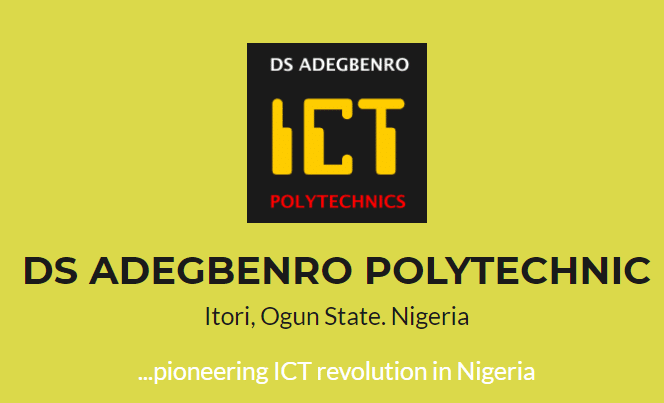 DS Adegbenro Poly HND & ND part-time form