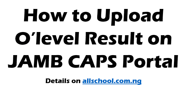 how to upload waec result on jamb portal