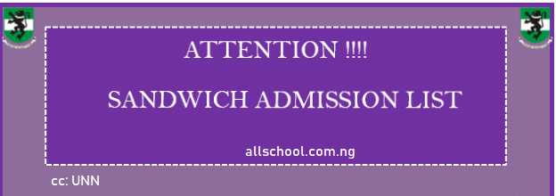unn sandwich admission list