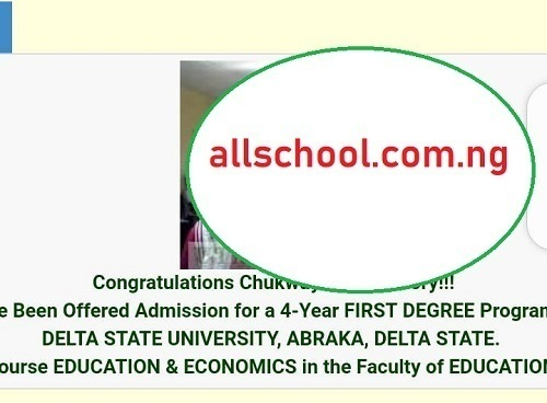 delsu admission list on the post portal