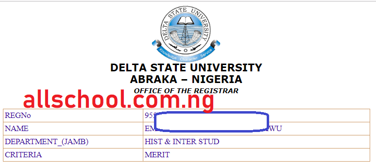 DELSU Admission List 2020/2021 is Out [1st, 2nd, 3rd, 4th, 5th, 6th, 7th, 8th, 9th]
