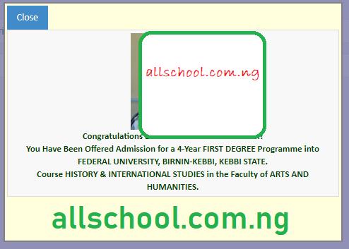 fubk admission list 2019/2020