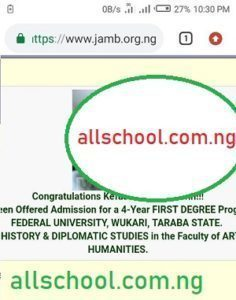 FUWUKARI Admission List 2020/2021 Session is Out