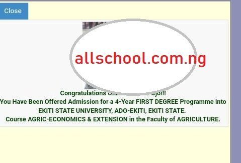 you have been offered admission