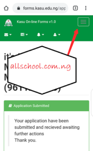 how to check kasu admission list