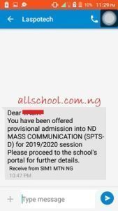 laspotech admission list updated