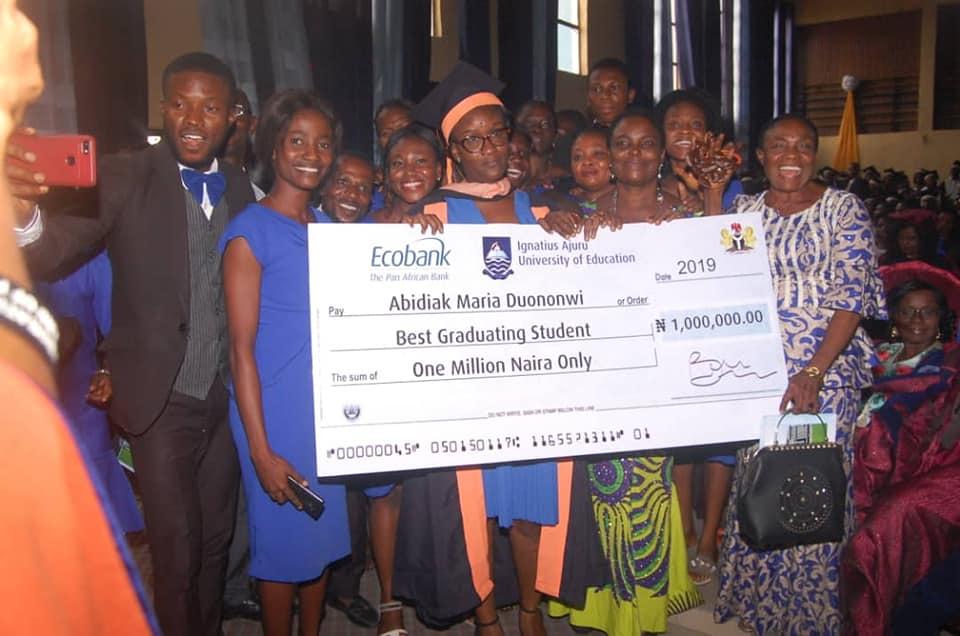 IAUE Awards One Million Naira to best Graduating Student