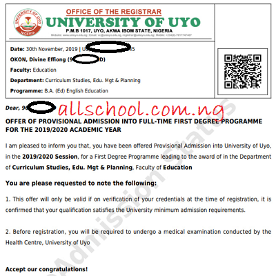 UNIUYO Admission List for 2020/2021 is Out [UPDATED]
