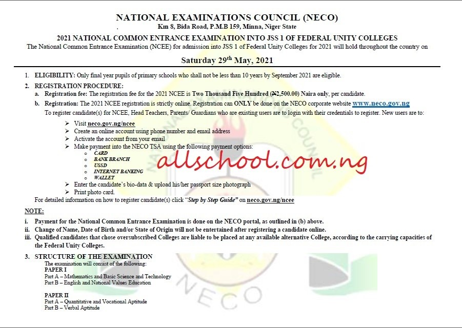 ncee 2021 registration advert