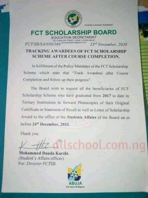 fct scholarship notice