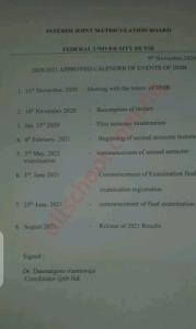fud ijmb academic calendar