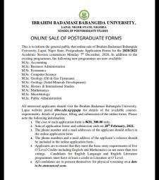 ibbu postgraduate form