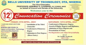 bells university convocation ceremony schedule of events